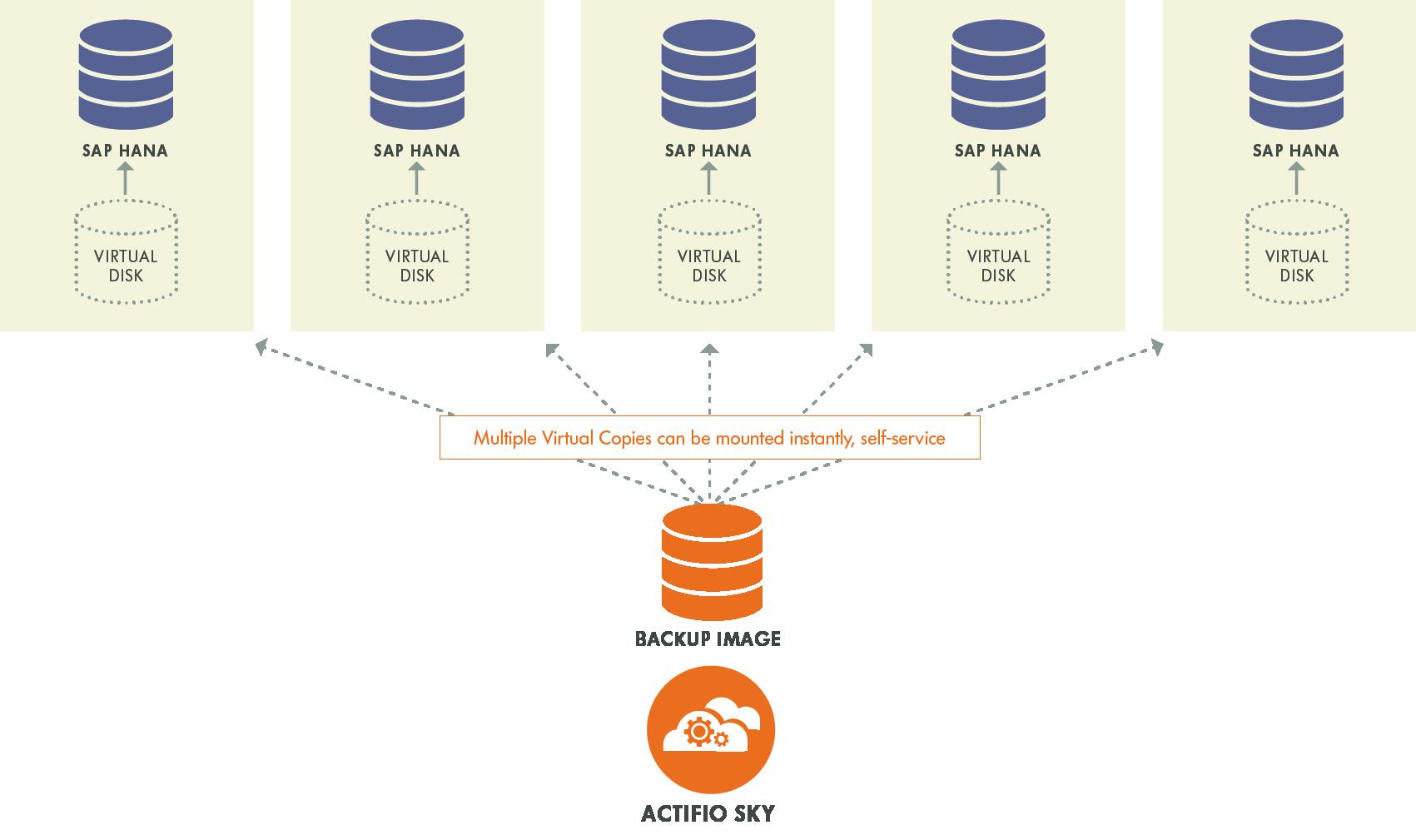 Sap Hana Data Management Protection Actifio 2 Block Diagram Sky For