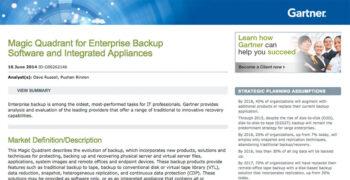 2015 Gartner Magic Quadrant for Enterprise Backup/Recovery Software