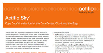 Actifio Sky Data Sheet