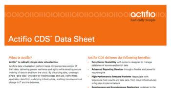 Actifio CDS Data Sheet
