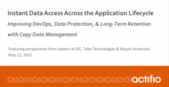Instant Data Access Across the Application Lifecycle