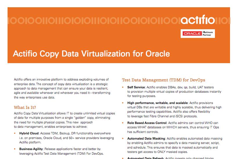 Application Development/DevOps Archives | Page 7 of 11 | Actifio