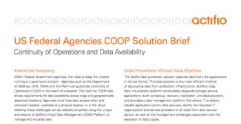 US Federal Agencies COOP Solution Brief