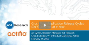 Crush Your Application Release Cycles: Get 5 Quarters in a Year
