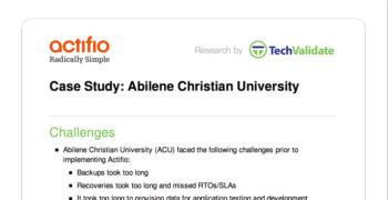 Abilene Christian University Customer Brief
