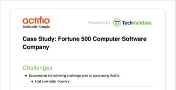 Fortune 500 Computer Software Customer Brief