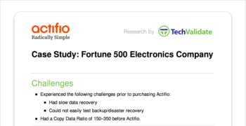 Fortune 500 Electronics Company Customer Brief