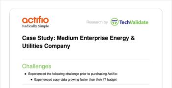 Medium Enterprise Energy & Utilities Company Customer Brief