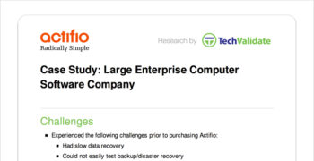 Large Enterprise Computer Software Company Customer Brief