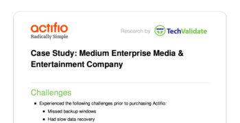 Medium Enterprise Media & Entertainment Company Customer Brief