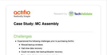 MC Assembly Customer Brief