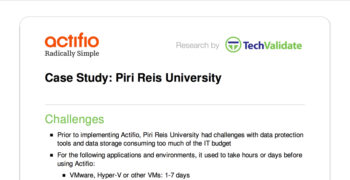 Piri Reis University Customer Brief