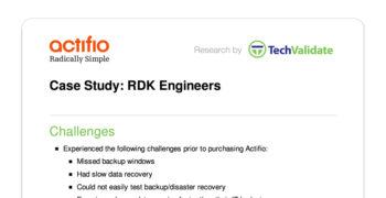 RDK Engineers Customer Brief