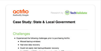 State & Local Government Customer Brief