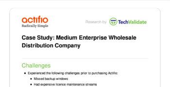 Medium Enterprise Wholesale Distribution Company Customer Brief