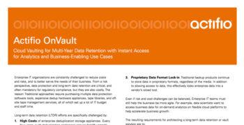 OnVault Data Sheet
