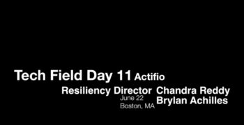 Actifio Resiliency Director Overview and Demo