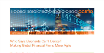 Making Global Financial Firms More Agile