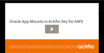 Oracle App Mounts in Actifio Sky for AWS