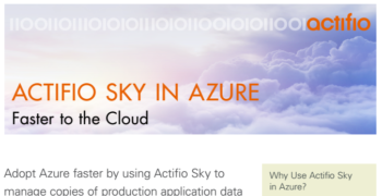 Actifio Sky in Azure