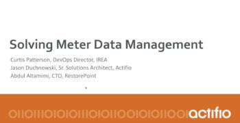 Meter Data Management Webinar with IREA