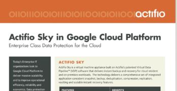 Actifio Sky in Google Cloud Platform