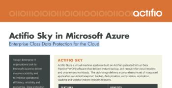 Actifio Sky in Microsoft Azure