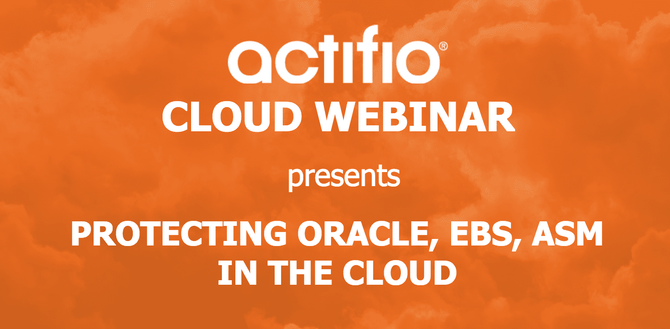 Protecting Oracle EBS ASM in the Cloud