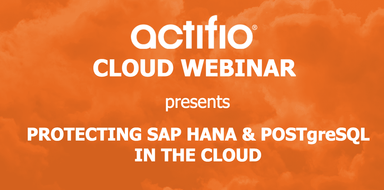 Protecting SAP HANA & PostgreSQL in the Cloud