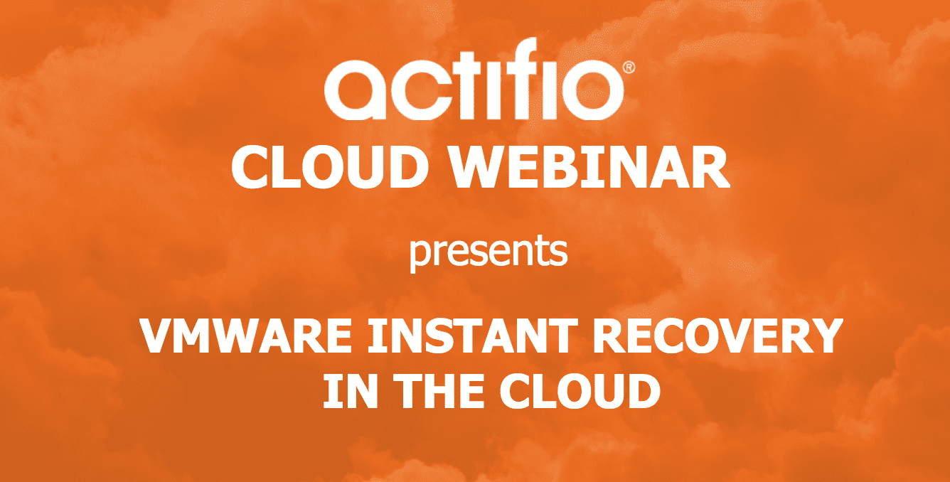 Vmware instant recovery in the cloud