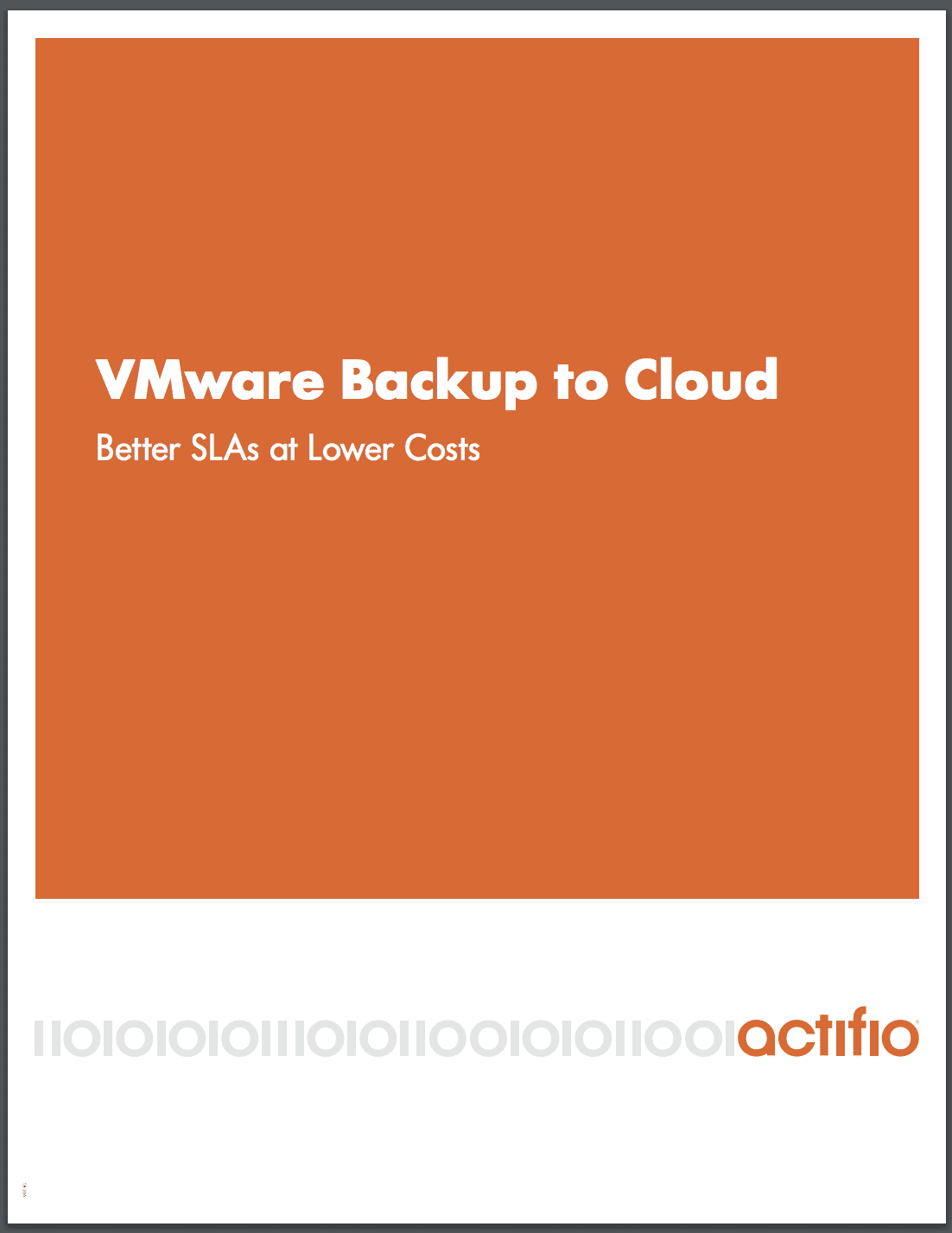 vmware backup to cloud