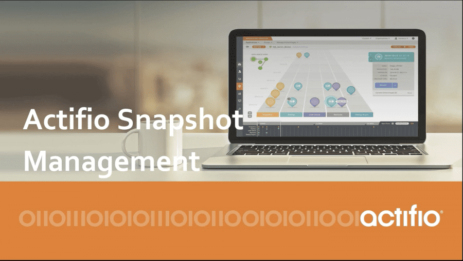 Actifio for snapshot management