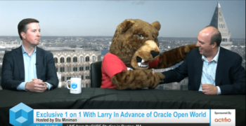 Brian Reagan and Larry the Bear Meet with Silicon Angle (Video)