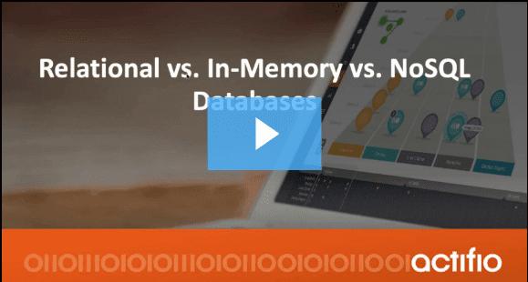 In Memory vs Relational vs No SQL Databases