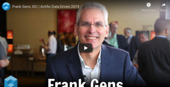 theCUBE – Frank Gens, IDC at Actifio Data Driven 2019