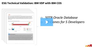 Benchmark of IBM Infosphere Virtual Data Pipeline, IBM Cloud Object Storage and Actifio