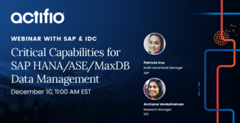 Critical Capabilities for SAP HANA/ASE/MaxDB Data Management